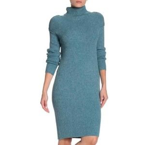 5/$25 Solutions Turtle Neck Ribbed Sweater Dress